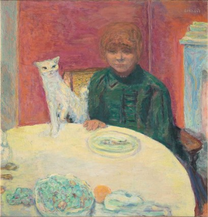 "Pierre Bonnard's ""Woman with Cat"", or ""The Demanding Cat"" (1912)."
